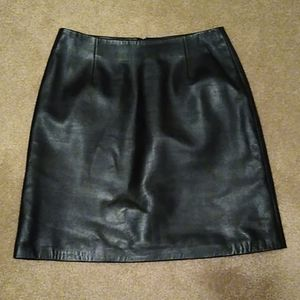 Cache leather mini skirt